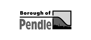 Image shows the Borough of Pendle logo.