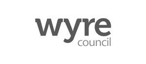Image shows Wyre Council logo.